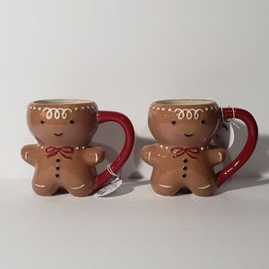 Set of 2 Target Threshold Gingerbread Man Mugs